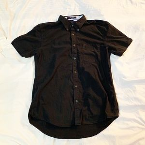 Tommy Hilfiger City Poplin Black Slim Fit Polo